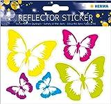 HERMA 19192 Reflektor Aufkleber mit Schmetterling Motiven, selbstklebende Leuchtaufkleber für...