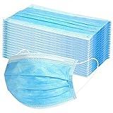 Hniunew 10/200PC Stck Einweg OP-Maske Gesichtsmaske 3-lagig Mundschutz Staubschutz Infektionsschutz...