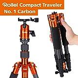 Rollei Compact Traveler No. 1 Carbon - sehr leichtes Reisestativ aus Carbon mit einem Packmaß von...