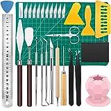 Acmerota Plotter Zubehör 29 Stk. Jäten Bastelwerkzeuge für Vinyl Basteln Jäten Werkzeuge Kit...