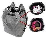 Tasche für Toniebox und Zubehör | Platz für bis zu 10 Hörfiguren, Ladestation, Lauscher | GRAU |...
