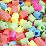 Bügelperlen, Größe medium mm, Größe 5x5 mm, Pastellfarben, 30000sort, Lochgröße 2,5 mm