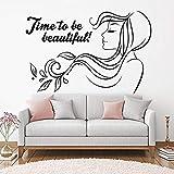 YuanMinglu Inspirierende Zitat Vinyl Wand Applique Haar Spa Beauty Salon Frau Aufkleber Wandbild...