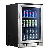Advanics XXL Getränkekühlschrank mit Glastür und Schloss, 88 Liter, Minibar,...