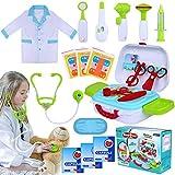 INNOCHEER Arztkoffer Kinder Medizinisches Doktor Arztkittel Rollenspiel Spielzeug für Kinder Jungen...
