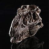 TKAISGFJQ Kreative Harzfigur Tyrannosaurus Totenkopf Skelett Kopf Figur Dinosaurier Basteln Statuen...