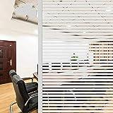 Sichtschutzfolie mit gefrosteten Streifen,elektrostatischer Selbstklebender Glasaufkleber,Vinylfolie...