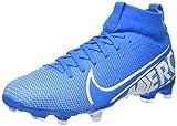 Nike Unisex-Kinder Jr Superfly 7 Academy Fg/mg Fußballschuhe, Mehrfarbig (Blue Hero/White/Obsidian...
