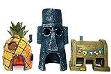 SLOCME Aquarium-Dekoration Ananas-Haus – Spongebob-Haus, Squidward Hidout und Krusty Krab...