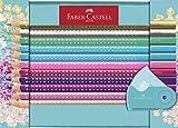 Faber-Castell 201641 - Geschenkset Sparkle, 20 Buntstifte und Eine Sleeve Spitzdose Mini