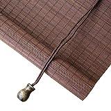 LY88 Bambusrollo für Vorhänge, Bambus-Rollos, leicht, zum Aufrollen, 55% Lichtfilterung,...