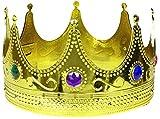 Balinco Krone in Gold   Königskrone   Königin   Crown mit farbigen Rubinen besetzt - das perfekte...