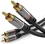 KabelDirekt - Cinch Audio Kabel - 1m - (Koaxialkabel geeignet fr Verstrker, Stereoanlangen, HiFi...