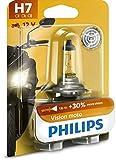 Philips 12972PRBW Vision Moto H7 Motorrad-Scheinwerferlampe, 1er Blister