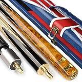 ZHTY 20oz 3/4 Ebenholz Pool Queue Stick handgefertigt 57 Zoll Snooker Queue mit Queue Case Extension...