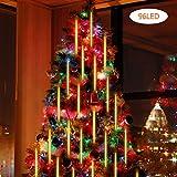 Ggdoo 20cm Außenmeteorschauer Regen 8 Tubes LED Schnur-Licht-wasserdicht LED-Schnur-Licht für...