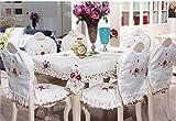 ZREED Exquisit Europäische Pastoral Couchtisch Tischdeckenstoffe Wohnzimmer Tisch Kissen Essen...