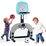 Birtech Basketballkorb Set 3-in 1-Kinder-Basketballstnder Sportaktivittscenter Einstellbar Leichtes...