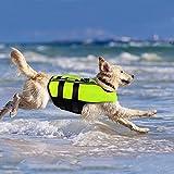 NAMSAN Hundeschwimmwesten Schwimmweste für Hund Tragbar Aufblasbar Rettungswesten für...