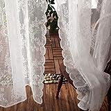 Vivarry Spitze Vorhang/Kaffee Schlafzimmer Balkon Vorhang/Wellenförmige Spitze Design/Weich Und...