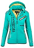 Geographical Norway Damen Softshell Funktions Outdoor Regen Jacke Sport [GeNo-24-Grn-Gr.M]