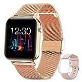 GOKOO Smartwatch Damen Frauen 1.4inch Zoll IPS HD-Touchscreen Fitness Tracker IP68 Wasserdicht SpO2...