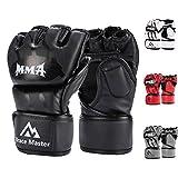 Brace Master MMA Handschuhe UFC Handschuhe Leather Padding fr Mnner, Frauen, Knchelgelenkschutz,...