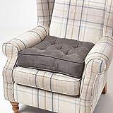 Homescapes großes Sitzkissen 50 x 50 cm, Sitzpolster für Sessel und Sofas mit Tragegriff und...