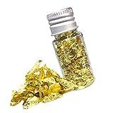 TOYANDONA 1 Flasche Essbare Echte Blattgoldflocken Goldflocken Dekorative Gerichte Echtes Blattgold...