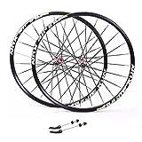 Zyy Mountain Bike 26 Fahrrad Radsatz Aluminiumlegierung Doppelwandfelge Scheibenbremse V-Brake...