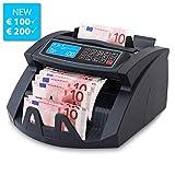 Stückzahlzähler Geldzählmaschine Geldzähler Euro SR-3750 LCD UV/MG/IR von Securina24® (Schwarz...