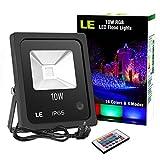 LE RGB Strahler, 16 Farben und 4 Modi Fluter mit Fernbedienung, IP65 Wasserdicht LED Scheinwerfer,...