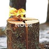 NOOR Schwedenfeuer Schwedenfackel Hhe 25 cm Durchmesser 17-24 cm Flammender Outdoor-Spass bis zu 4...