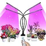 SUPCHON Pflanzenlampe, 4 Heads Pflanzenlicht 40W Led Pflanzenlampe mit Timer 4H, 8H, 12H,...
