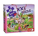 Noris 606031790 XXL Riesenpuzzle,Ferien auf dem Ponyhof - mit 45 Teilen (Gesamtgröße: 64 x 44 cm)...