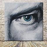 YUEFHAN Art Ölgemälde Auf Leinwand Handgemalte,Gemälde Männer S Augen Moderne Wandbilder Für...