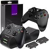 Fosmon Dual Controller Ladestation Kompatibel Mit Xbox One/One S/One X/Elite (Nicht Für Xbox Series...