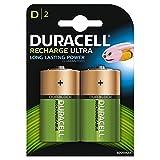 Duracell Recharge Ultra D Mono Akku Batterien LR20 3000 mAh, Packung mit 2 Stück
