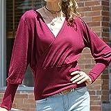 Für Sweater CMF Sexy V-Ausschnitt Laterne Hülsen-Normallack-Strickjacke, Größe: M (grau) (Color...