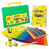 Mimtom Malschablonen für Kinder   58-teiliges Schablonen Set mit über 370 inspirierenden Formen...