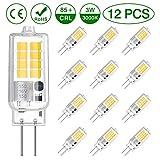 VITCOCO LED G4 Lampe 12pcs LED Birnen Warmesweiß 3000K 250LM 3W ersetzt 30W Halogenlampen SMD 16 *...