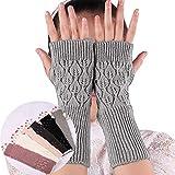 Frauen Handschuhe, Armlinge Fingerlose Thermohandschuhe Handgelenk Handschuhe Winter Warme Mode...