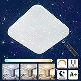 Oeegoo LED Deckenleuchte Dimmbar Sternenlicht, 24W LED Deckenlampe mit Fernbedienung, 1680LM LED...