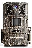 WiMiUS H6 Wildkamera 16MP 1080P Wildkamera mit Bewegungsmelder Nachtsicht, 940nm IR LEDs 20m Trail...