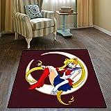 zzqiao Teppich Hause Japanischen Anime Sailor Moon Moon Magic Teppich Wohnzimmer Schlafzimmer Bad...