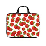Facbalaign Früchte Laptoptasche Erdbeere überall Messenger-Tasche Muster Hochwertige mit Griff...