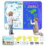 Aqua Doodle Matte 120cm*90cm Barley Direct Zaubertafel Malmatte, Wasser doodle Matte leuchtet im...