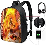 gshihuainingxianruanlius Fairy Tail Anime Männer und Frauen Large Laptop Backpack 17 Zoll, Student...