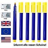 Geldscheinprüfer Stift Prüfstift Geldschein Tester Geldscheinsprüfer für US-Dollar, Euro, Pfund,...