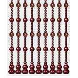WENZHE 21 Stränge Perlenvorhang Türvorhang Holz Fadenvorhang hängen Vorhänge Raumteiler...